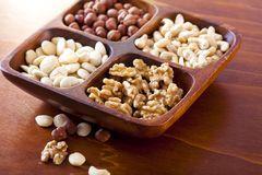 Bowl with nuts Royalty Free Stock Photos