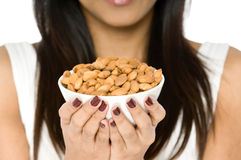 Bowl of Nuts Stock Photo