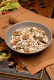 Bowl with nuts and muesli Stock Photography