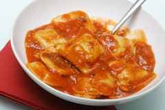 Bowl O' Ravioli. A bowl of ravioli Stock Photography