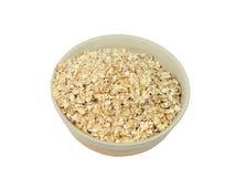 Bowl with oak flakes Stock Photo