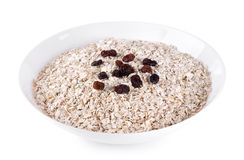 Bowl of oat flake Royalty Free Stock Images