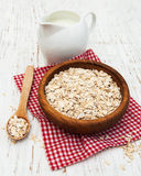 Bowl of oat flake Stock Photo