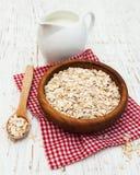 Bowl of oat flake Stock Photo