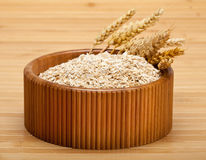 Bowl of oat flakes Royalty Free Stock Photography