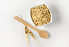 Bowl of oat flakes Stock Photography
