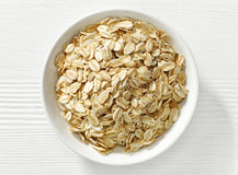 Bowl of oat flakes Royalty Free Stock Photo
