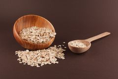 Bowl with oat Royalty Free Stock Photos