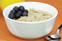 Bowl of oatmeal Stock Photos