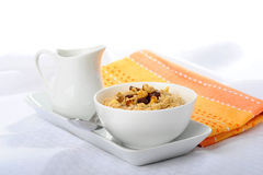 Bowl of Oatmeal Royalty Free Stock Photos