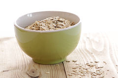 Bowl with oatmeal Royalty Free Stock Images