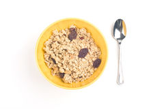 Bowl of oatmeal Royalty Free Stock Photography