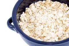 Bowl of Oatmeal Royalty Free Stock Images