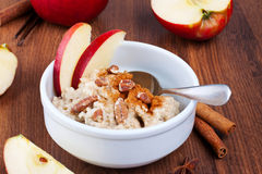 Bowl of oatmeal Stock Photography