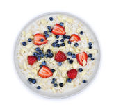 Bowl of oatmeal with berries royalty free stock photo