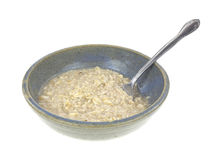 Bowl of oatmeal cereal Stock Photo