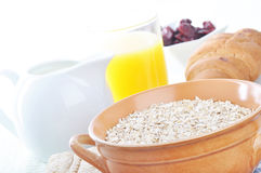 A bowl of oatmeal Stock Photography