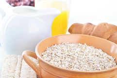 A bowl of oatmeal Royalty Free Stock Photos