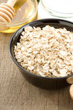 Bowl of oatmeal and milk Royalty Free Stock Photo