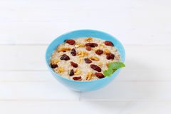 Bowl of oatmeal porridge Royalty Free Stock Photo