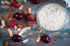 Bowl of oatmeal Royalty Free Stock Photo