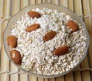 Bowl of oats Stock Photos