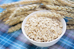 Bowl of oats Stock Photo