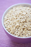 Bowl of oats Stock Photos