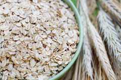 Bowl of oats Royalty Free Stock Images
