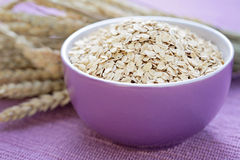 Bowl of oats. Bowl full of oats - healthy eating - food and drink Royalty Free Stock Image