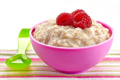 Bowl of oats porridge Royalty Free Stock Images