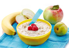 Bowl of oats porridge Royalty Free Stock Photography