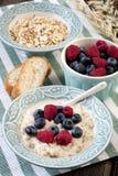Bowl of oats porridge. Healthy breakfast Royalty Free Stock Image
