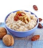 Bowl of oats porridge Royalty Free Stock Photo