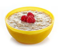 Bowl of oats porridge Stock Photography
