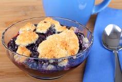 Bowl Of Blueberry Cobbler Stock Photo
