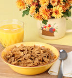 Bowl Of Bran Flakes Stock Images