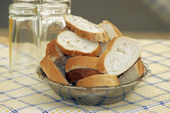 Bowl Of Bread Slices Royalty Free Stock Photography