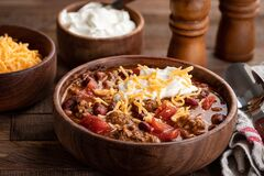 Free Bowl Of Chili Con Carne Stock Photography - 197364472