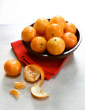 Bowl Of Clementine Mandarin Oranges Stock Photography