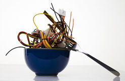 Bowl Of Cyber Noodles Stock Images