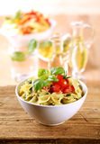 Bowl Of Farfalle Pasta Stock Images