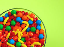 Bowl Of Fruit Candy Stock Photography