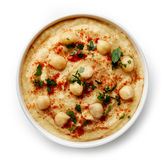 Bowl Of Homemade Hummus Royalty Free Stock Photo