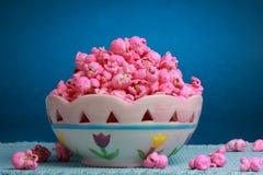 Free Bowl Of Pink Popcorn Stock Images - 17729434