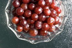 Bowl Of Red Grapes. Royalty Free Stock Photos