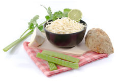 Bowl Of Tasty Grated Celery