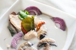 Free Bowl Of Thai Tom Kha Kai Soup Royalty Free Stock Photos - 73431708