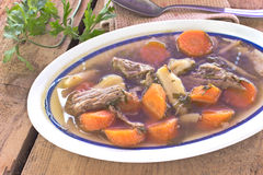 Bowl Of Vegetable Beef Soup Stock Images