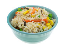 Free Bowl Of Wild And Brown Rice With Veggies Royalty Free Stock Image - 58591946